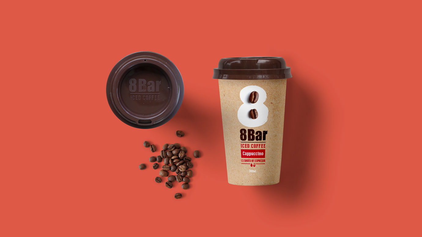 8 Bar Iced Coffee Packaging Cappuccino