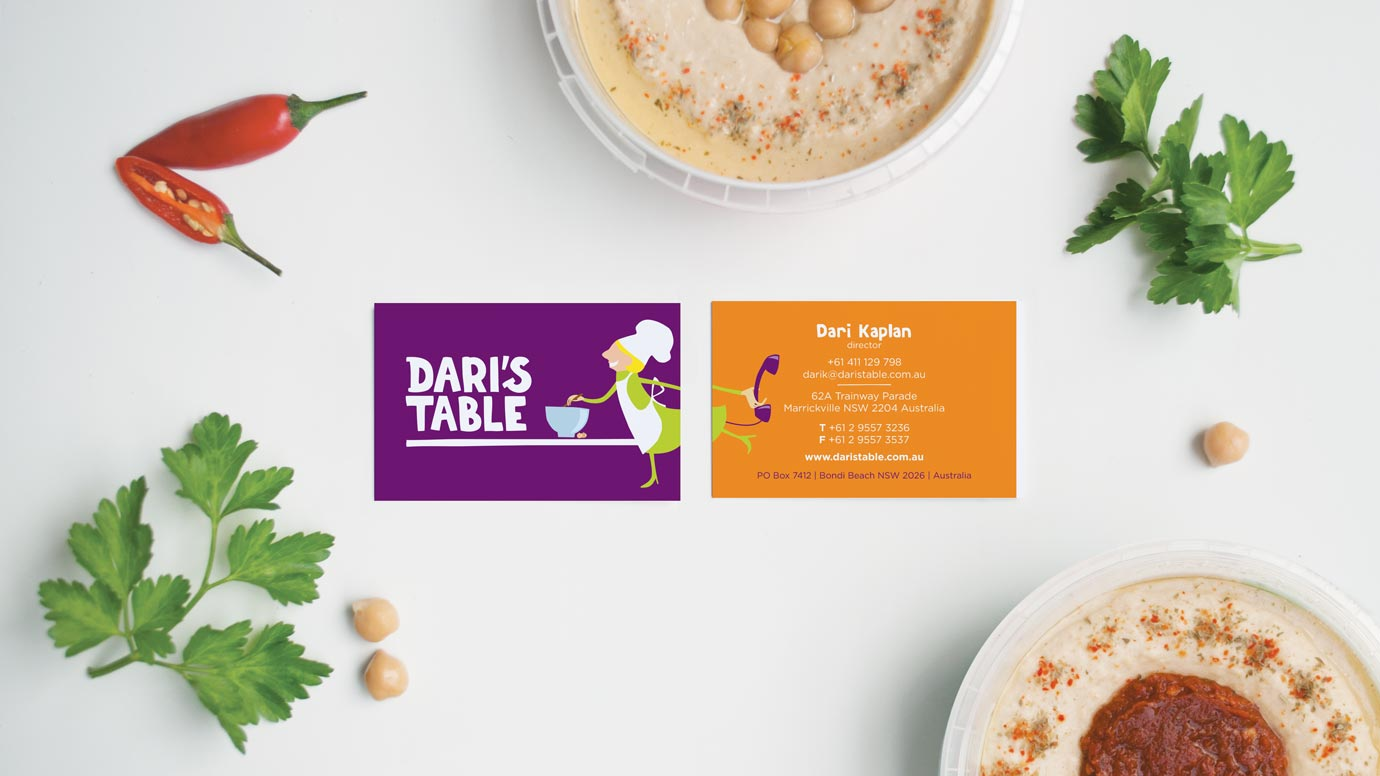Dari's Table Business Card Design