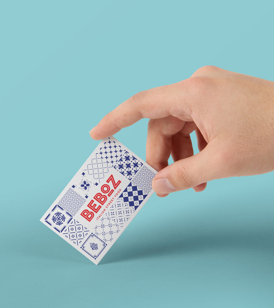 Beboz - Italian street food business card design