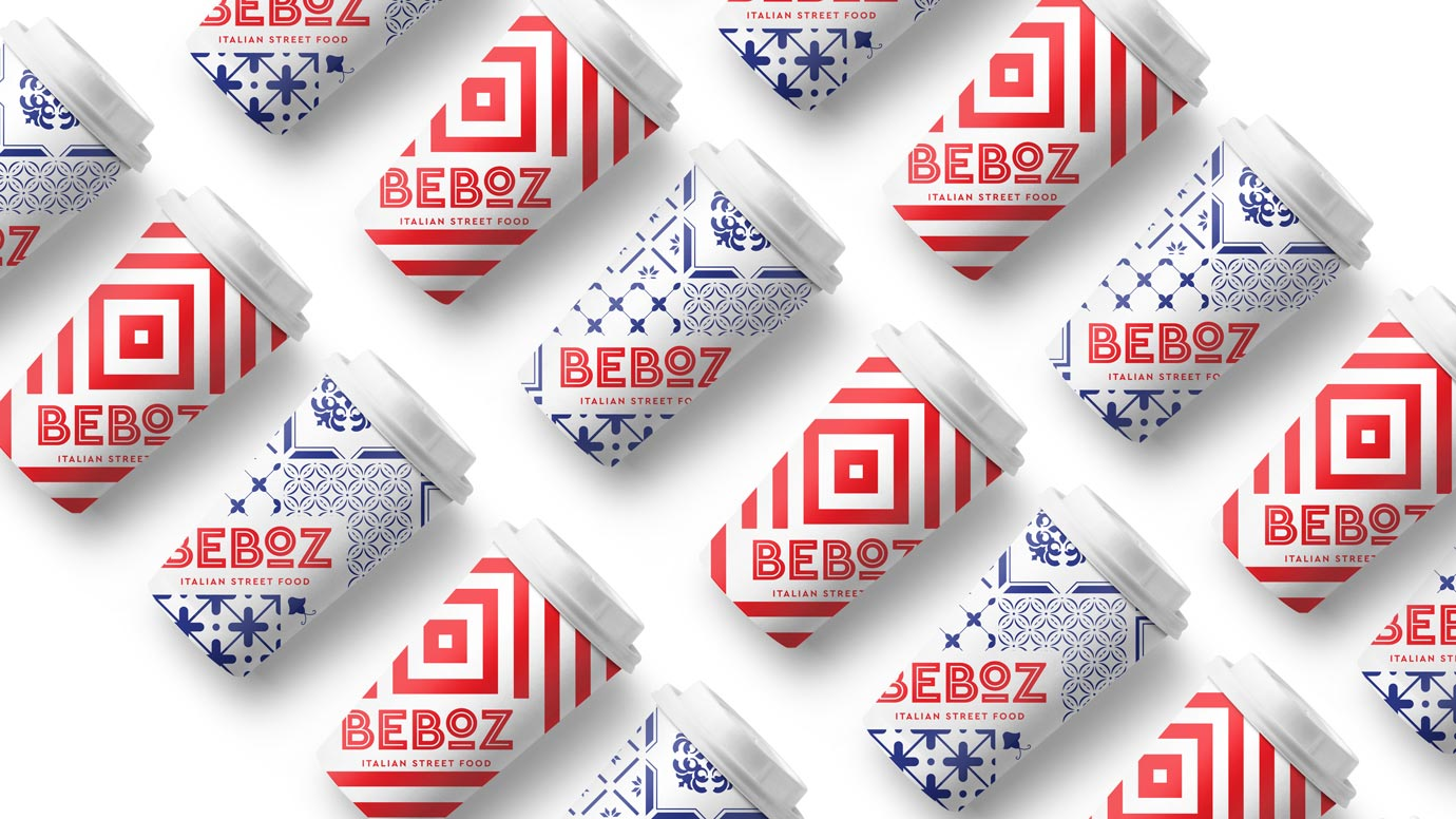 Beboz Coffee cups packaging design