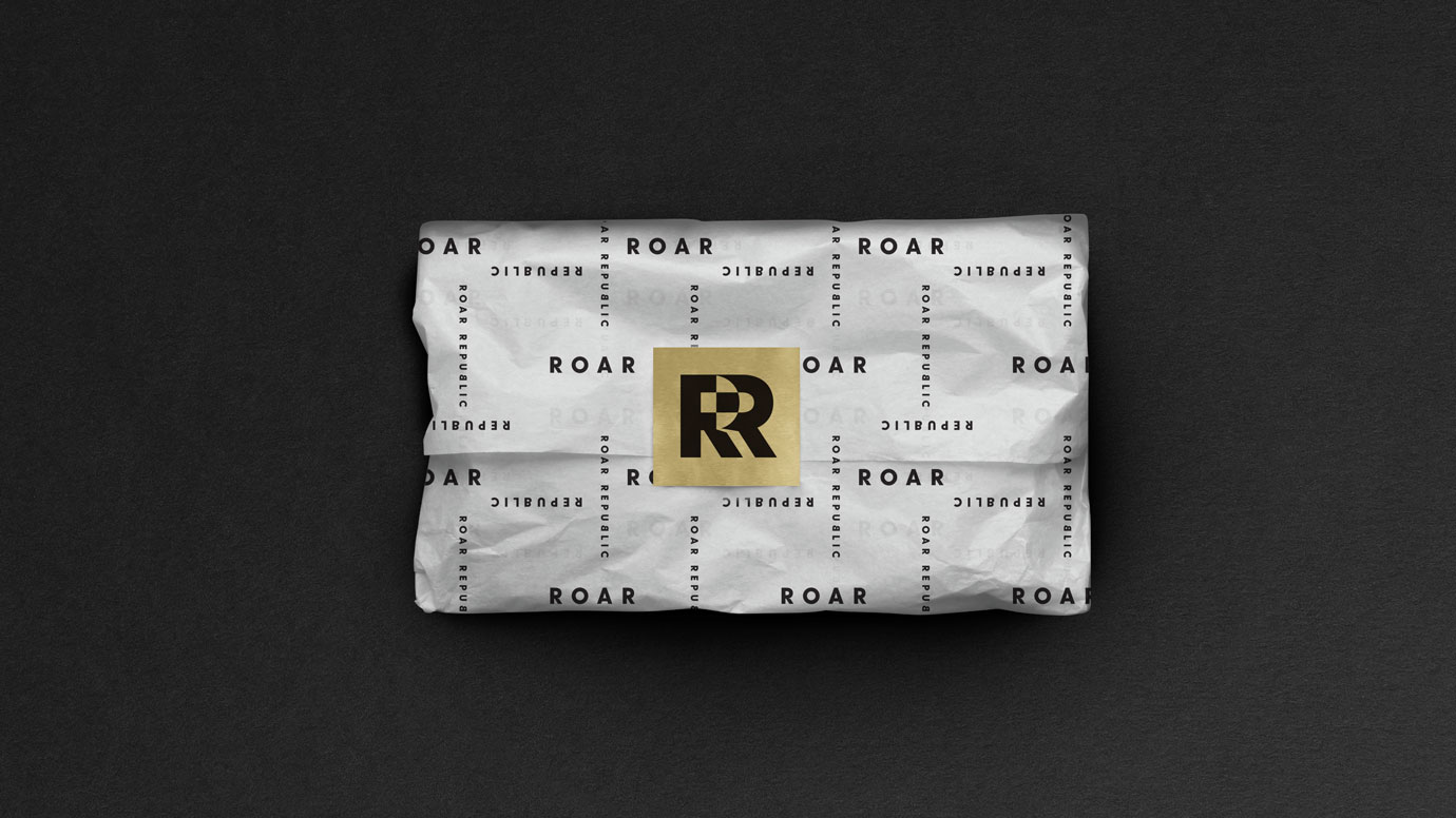 Roar Republic branded tissue paper